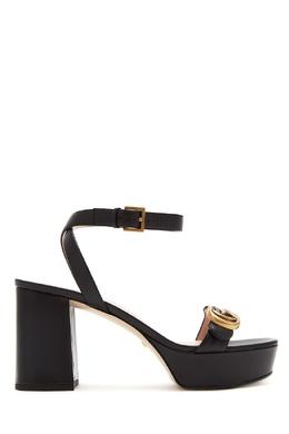 Черные босоножки GG Marmont Gucci 470154554