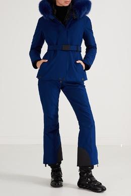 Синяя куртка с контрастной отделкой Moncler 34153964