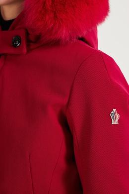 Красная куртка с контрастной отделкой Moncler 34153963