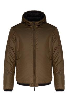 Зеленая куртка с капюшоном Emporio Armani 2706154050