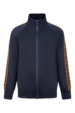 Синяя олимпийка с декором Fendi Kids 690153105