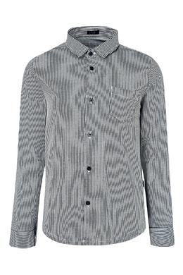 Серая рубашка в полоску Il Gufo 1205153355