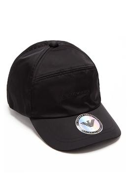 Черная бейсболка с логотипами Emporio Armani 2706154146