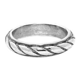 Ugo Cacciatori Silver Torchon Ring 192045M14700201GB