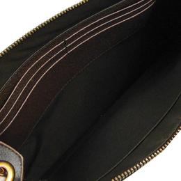 Gucci Beige GG Supreme Leather GG Chevron Clutch 225276