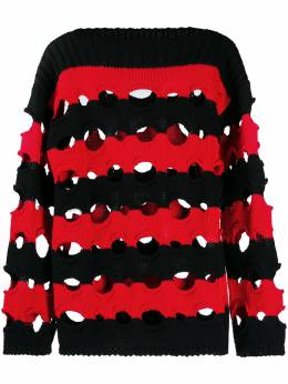 Philosophy Di Lorenzo Serafini striped ribbed jumper A09387100
