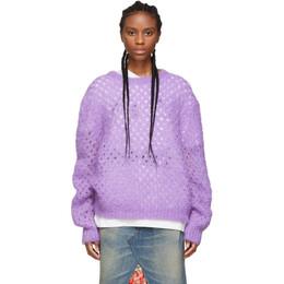 Marc Jacobs Purple Mohair Crewneck Sweater 192190F09601401GB