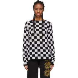 Marc Jacobs Black and White Wool Checkered Sweater 192190F09601702GB