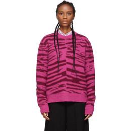 Marc Jacobs Pink Wool Grunge Tiger Sweater 192190F09601802GB