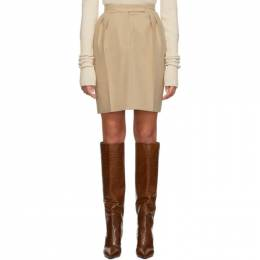 Max Mara Beige Laura Skirt 192118F09000102GB