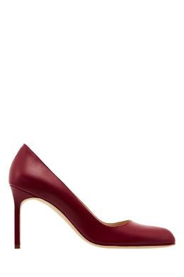 Красные кожаные туфли BBR Manolo Blahnik 166124261