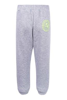 Серые брюки-джоггеры с логотипом Fendi Kids 690154033