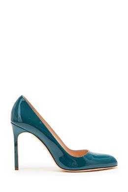 Сине-зеленые лакированные туфли BBR Manolo Blahnik 166153565