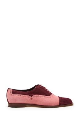 Комбинированные розово-бордовые оксфорды Row Manolo Blahnik 166153655