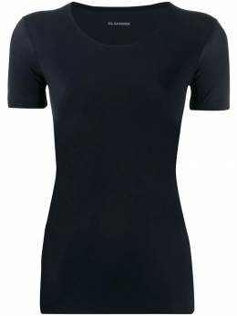 Jil Sander приталенная футболка с U-образным вырезом JSPP705033WP477108001