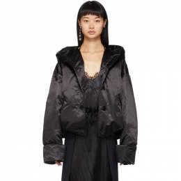 Mm6 Maison Margiela Black Down Satin Jacket 192188F06100404GB