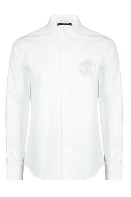 Белая рубашка с вышитой монограммой Roberto Cavalli 314155152