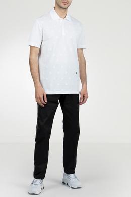 Белое поло с фактурной отделкой Roberto Cavalli 314155143