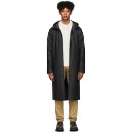 Stutterheim Black Long Stockholm Raincoat 192924M17600703GB