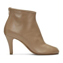 Maison Margiela Tan Stiletto Tabi Boots 192168F11304010GB