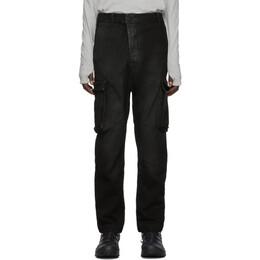 11 By Boris Bidjan Saberi Black Used Felt Cargo Pants P21B F-1472