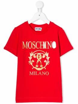 Moschino Kids футболка с логотипом H6M024LBA11
