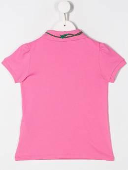 Gucci Kids рубашка-поло с отделкой Web 579186XJBER