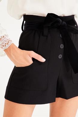 Черные шорты с комбинированным поясом Maje 888153603