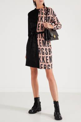 Двухцветное платье с логотипами Bikkembergs 1487154888