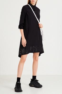 Расклешенное платье с логотипом Bikkembergs 1487154893