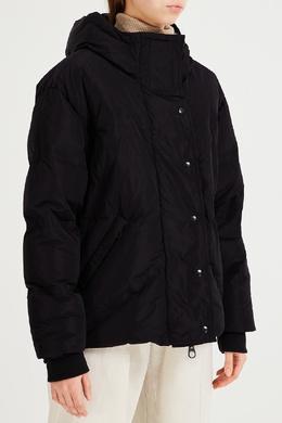 Черный пуховик с капюшоном Bikkembergs 1487154860