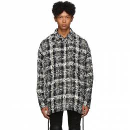 Faith Connexion Black and White Check Tweed Laced Over Shirt 192848M19201202GB