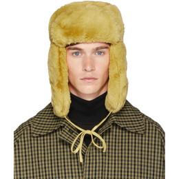 Paul Smith Yellow Matthew Traper Hat 192260M14000201GB