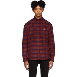 Etro Purple Check Regular-Fit Shirt 16365 3040