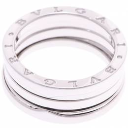Bvlgari B.Zero1 3-Band 18k White Gold Band Ring Size 55 227729