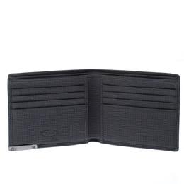 Tod's Dark Grey Leather Bifold Wallet 228417