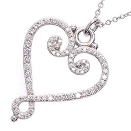 Tiffany & Co. Diamond 18K White Gold Paloma Necklace 228312