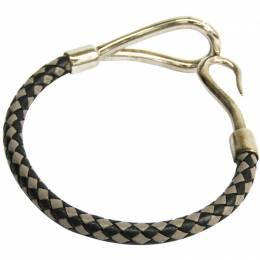 Hermes Jumbo Black Woven Leather Bracelet