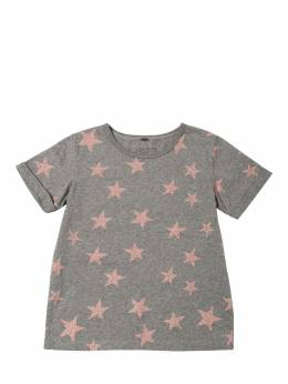 Футболка Из Хлопкового Джерси С Принтом Stella McCartney Kids 70I6SH024-MTQ2MQ2