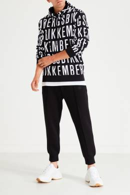 Черно-белое худи с логотипами Bikkembergs 1487154932