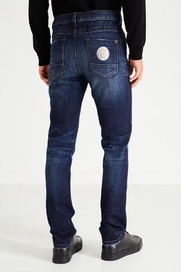 Синие джинсы с логотипами Bikkembergs 1487154911