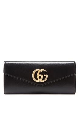 Черный клатч Broadway с Double G Gucci 470155072