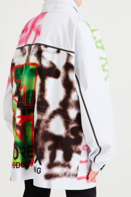 Белая куртка с разноцветным рисунком Off-White 2202155219