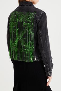 Джинсовая куртка с прорезями Off-White 2202155211