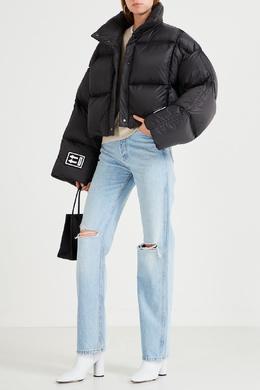 Укороченная темно-серая куртка Off-White 2202155217