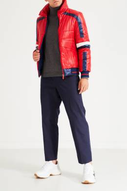 Красно-синяя стеганая куртка Bikkembergs 1487154979