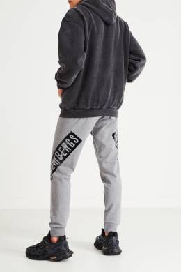 Спортивные брюки серого цвета Bikkembergs 1487154965