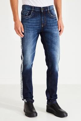 Синие зауженные джинсы Bikkembergs 1487154914
