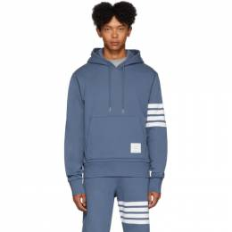 Thom Browne Blue Engineered 4-Bar Pullover Hoodie MJT135A-00535