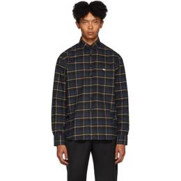 Etro Blue Check Regular-Fit Shirt 16365 3040